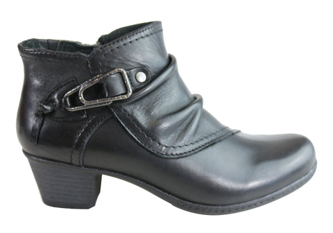 Planet Shoes Tatum Womens Comfortable Low Heel Leather Ankle Boots