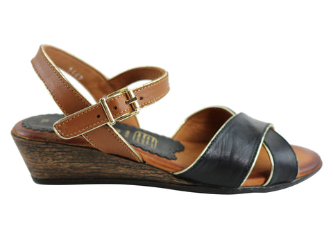Cabello Comfort IM1442 Womens Leather Sandals Made In Turkey
