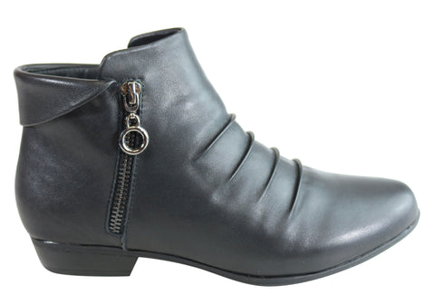 Natural Comfort Ava and Ava 2 Womens Comfort Flat Leather Ankle Boots