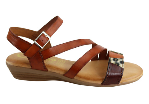 Cabello Comfort 718 Womens Leather Sandals Made In Spain