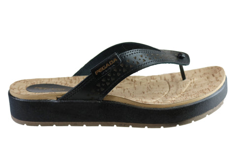 Pegada Wendal Womens Comfortable Leather Thongs Sandals Made In Brazil