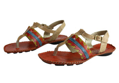 Andacco Kamby Womens Comfortable Leather Flat Sandals Made In Brazil