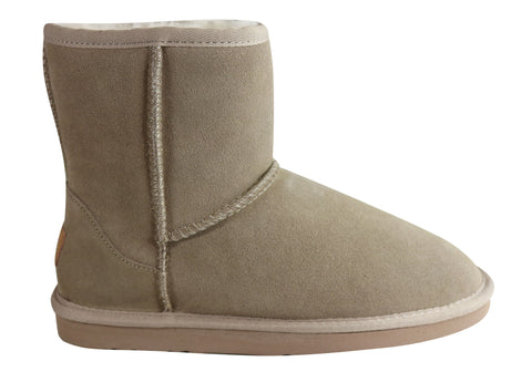 Grosby Jillaroo High Ugg Womens Warm Comfy Boots With Sheepskin Lining