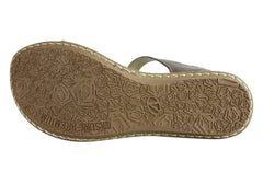 Andacco Vella Womens Comfortable Leather Flat Sandals Made In Brazil