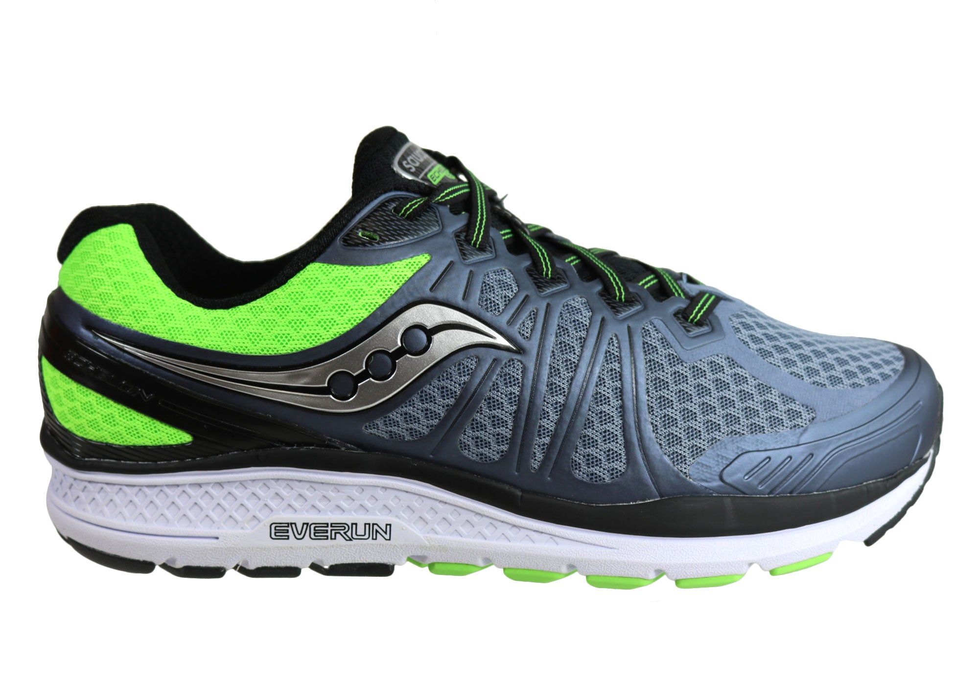 87048a04fcc Saucony Mens Echelon 6 Mens 2E Wide Width Cushioned Running Shoes ...