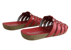 Andacco Sorrento Womens Comfort Leather Slide Sandals Made In Brazil