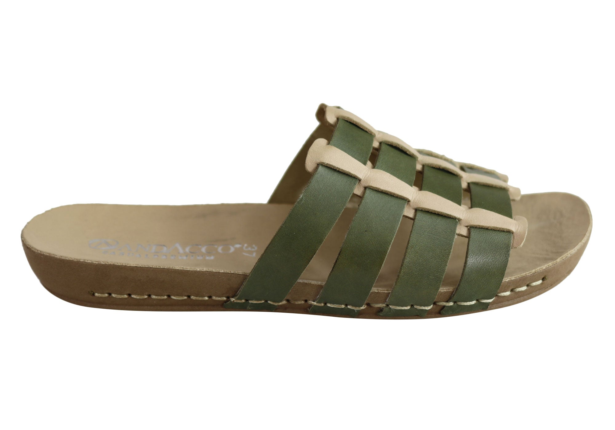 NEW-ANDACCO-SORRENTO-WOMENS-COMFORT-LEATHER-SLIDE-SANDALS-MADE-IN-BRAZIL