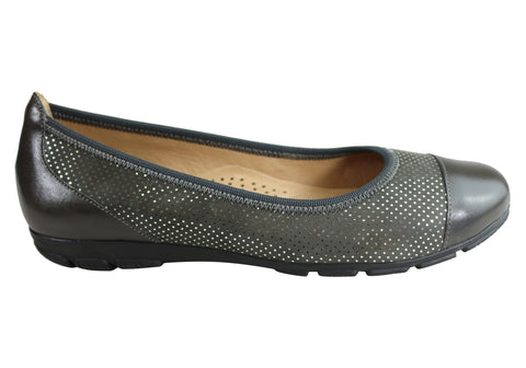 Gino Ventori Babylon Womens Comfy Leather Ballet Flats Made In Brazil