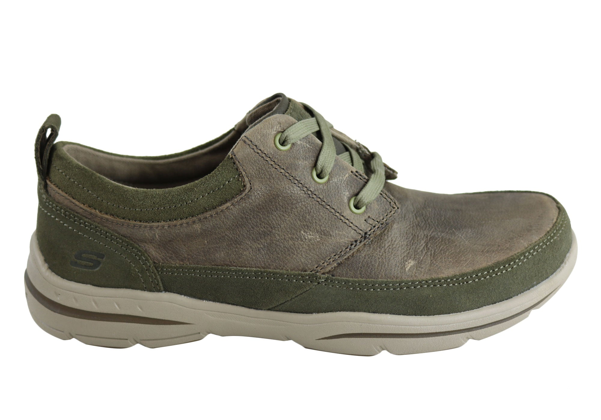 94aedc8749e1 Skechers Harper Olney Mens Relaxed Fit Casual Leather Lace Up Shoes ...