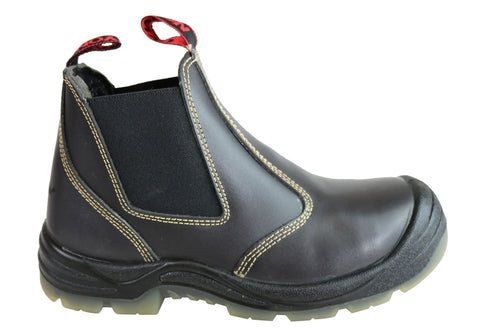 Canyon Tradesman Mens Steel Toe Cap Elastic Sided Pull On Work Boots