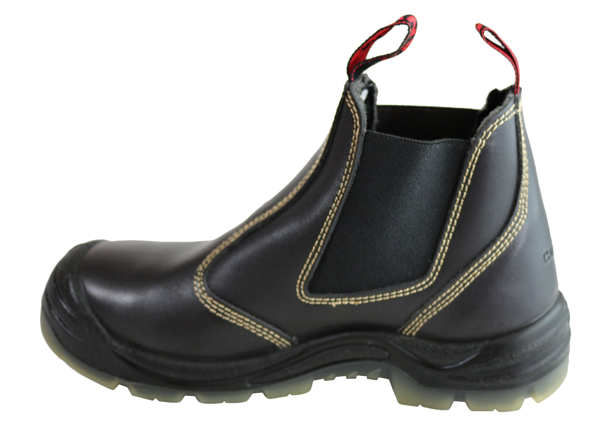 0ac134b3516 Details about Mens Canyon Tradesman Steel Toe Cap Elastic Sided Pull On  Work Boots - ModeShoes