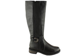 Grosby Paytin Womens Knee High Stretch Boots