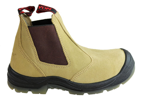 Canyon Woodsman Mens Steel Toe Cap Elastic Sided Pull On Work Boots