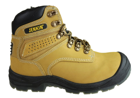 Jenkin Essential Comfort Mens Reaper Steel Toe Cap Side Zip Work Boots
