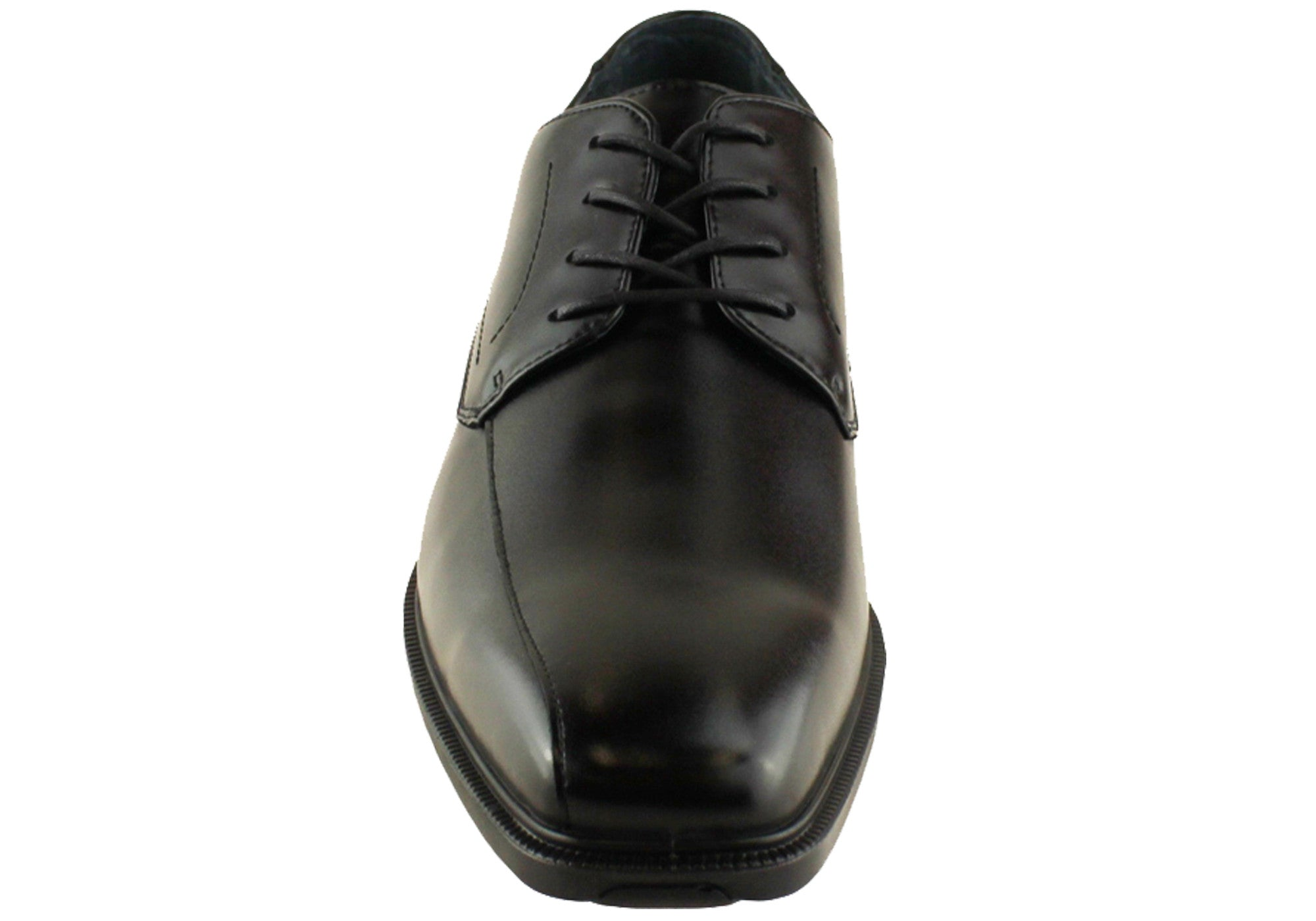 Hush Puppies Merchant Mens Leather Dress Shoes Wide Fit