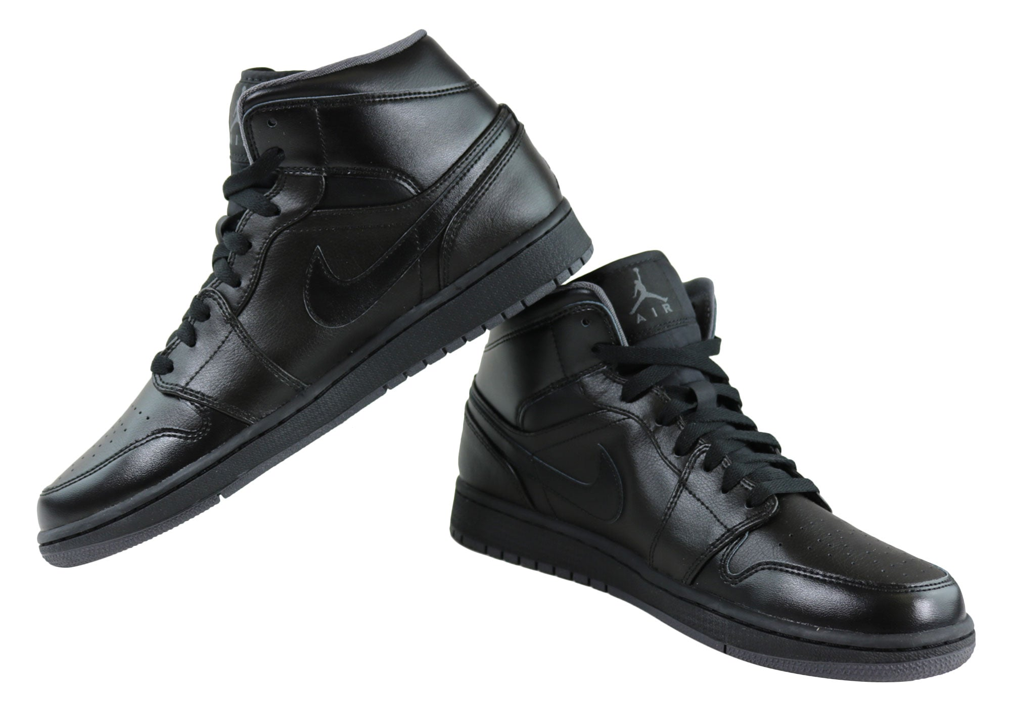 dbce490a40fbe4 Nike Air Jordan 1 Mid Leather Hi Tops Basketball Shoes