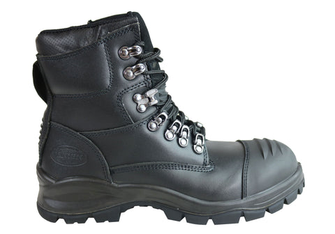 Jenkin Essential Comfort Mens Bullet Steel Toe Cap Side Zip Work Boots