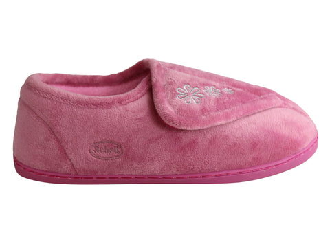 Scholl Orthaheel Gentle Womens Adjustable Comfortable Indoor Slippers