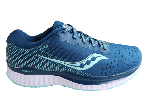 Saucony Womens Guide 13 Wide Fit Comfortable Athletic Running Shoes