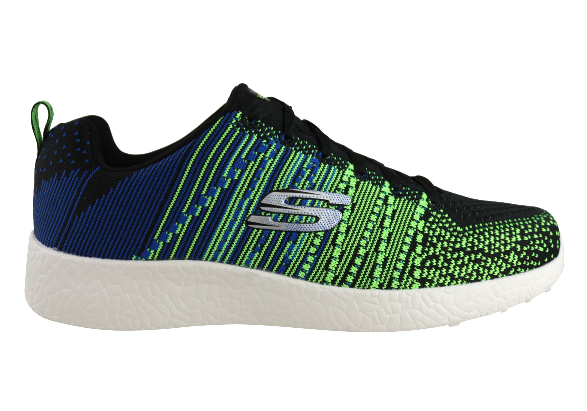 Skechers Boys Burst In The Mix Air Cooled Memory Foam Comfort Lace Trainers SALE