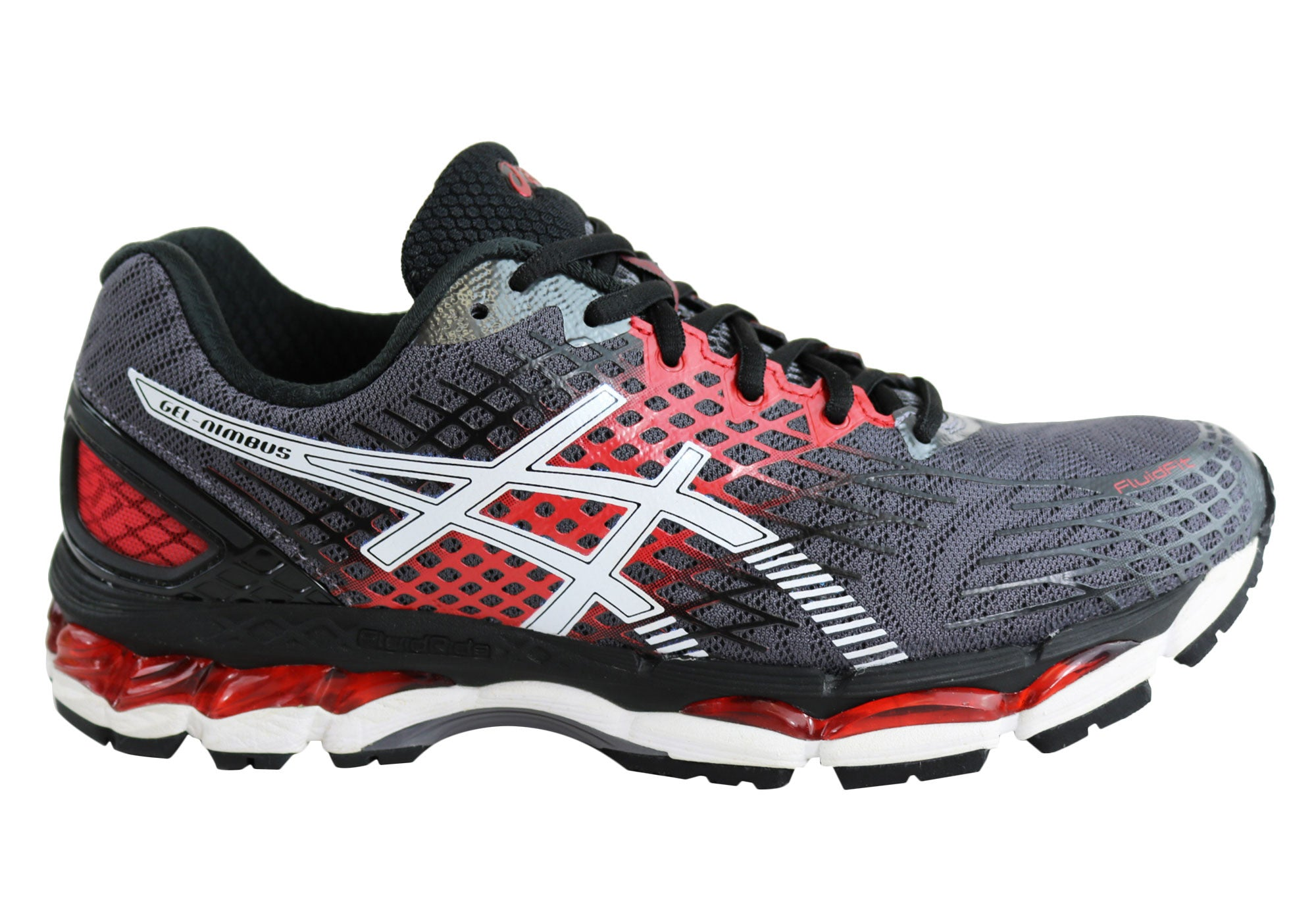 55fb820c3eb Home Asics Gel-Nimbus 17 Mens Premium Cushioned Running Shoes.  Carbon White Black  Electric Blue Black ...