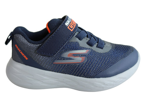 Skechers Infant Boys Go Run 600 Farrox Cushioned Athletic Shoes