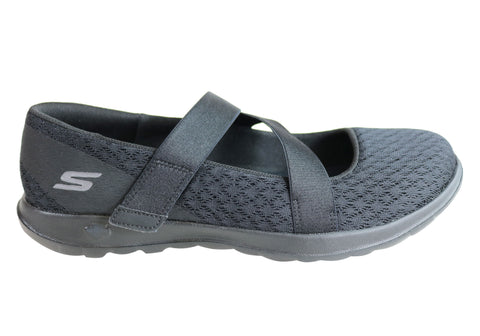 Skechers Womens Go Walk Lite Divine Comfort Cushioned Mary Jane Shoes