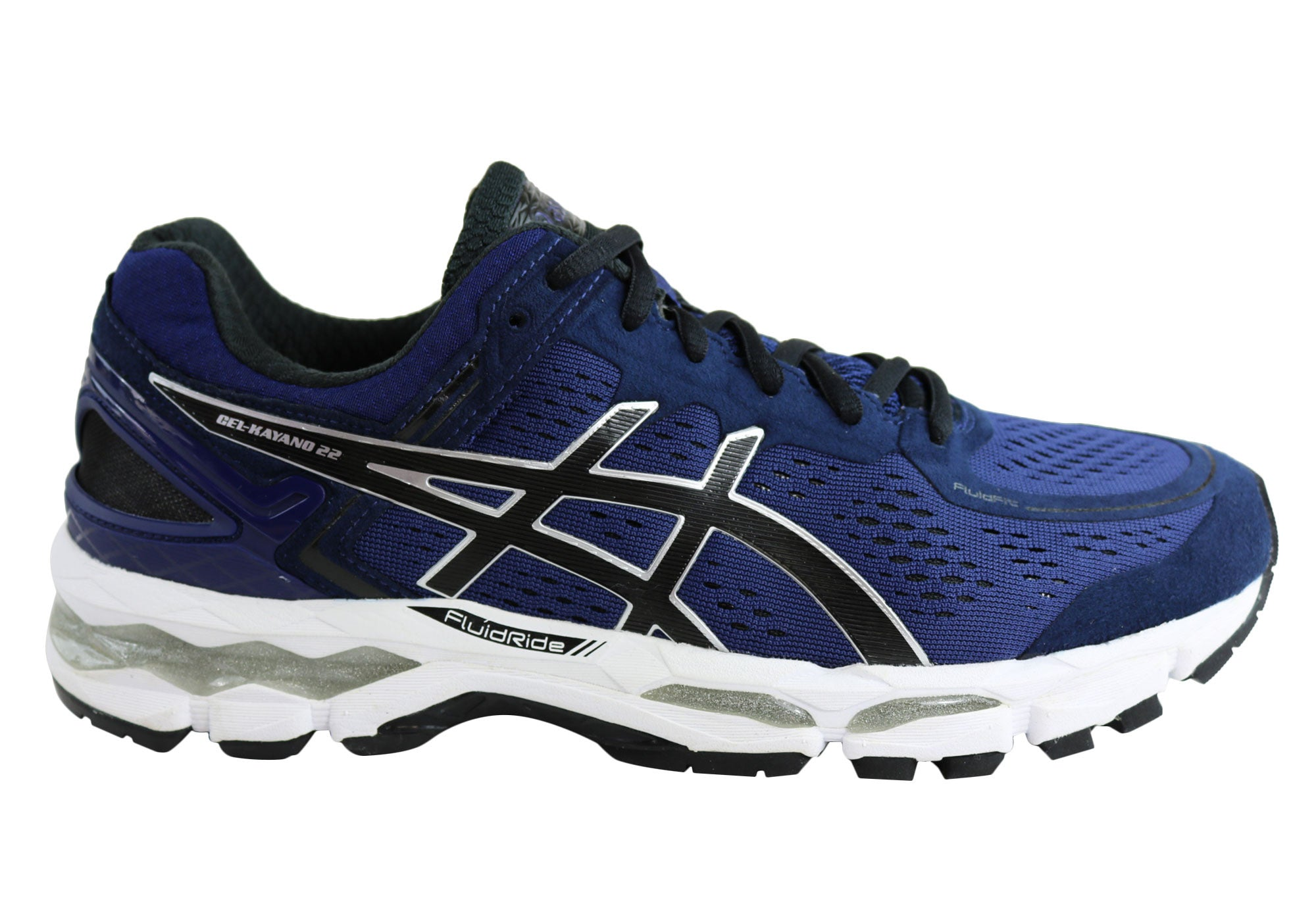 online store 6de16 2744e Home Asics Gel-Kayano 22 Mens Premium Cushioned Running Sport Shoes.  Charcoal Lime  Silver True Blue  Mediterranean Black Silver ...