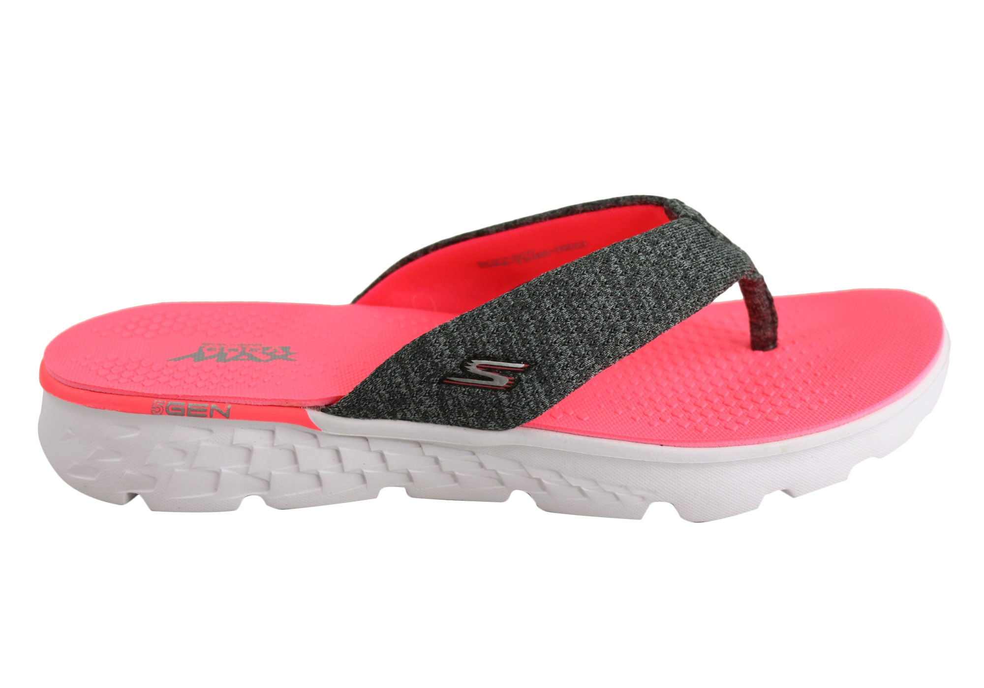 b68e3e285e34 Skechers On The Go 400 Vivacity Womens Comfortable Flat Thong Sandals