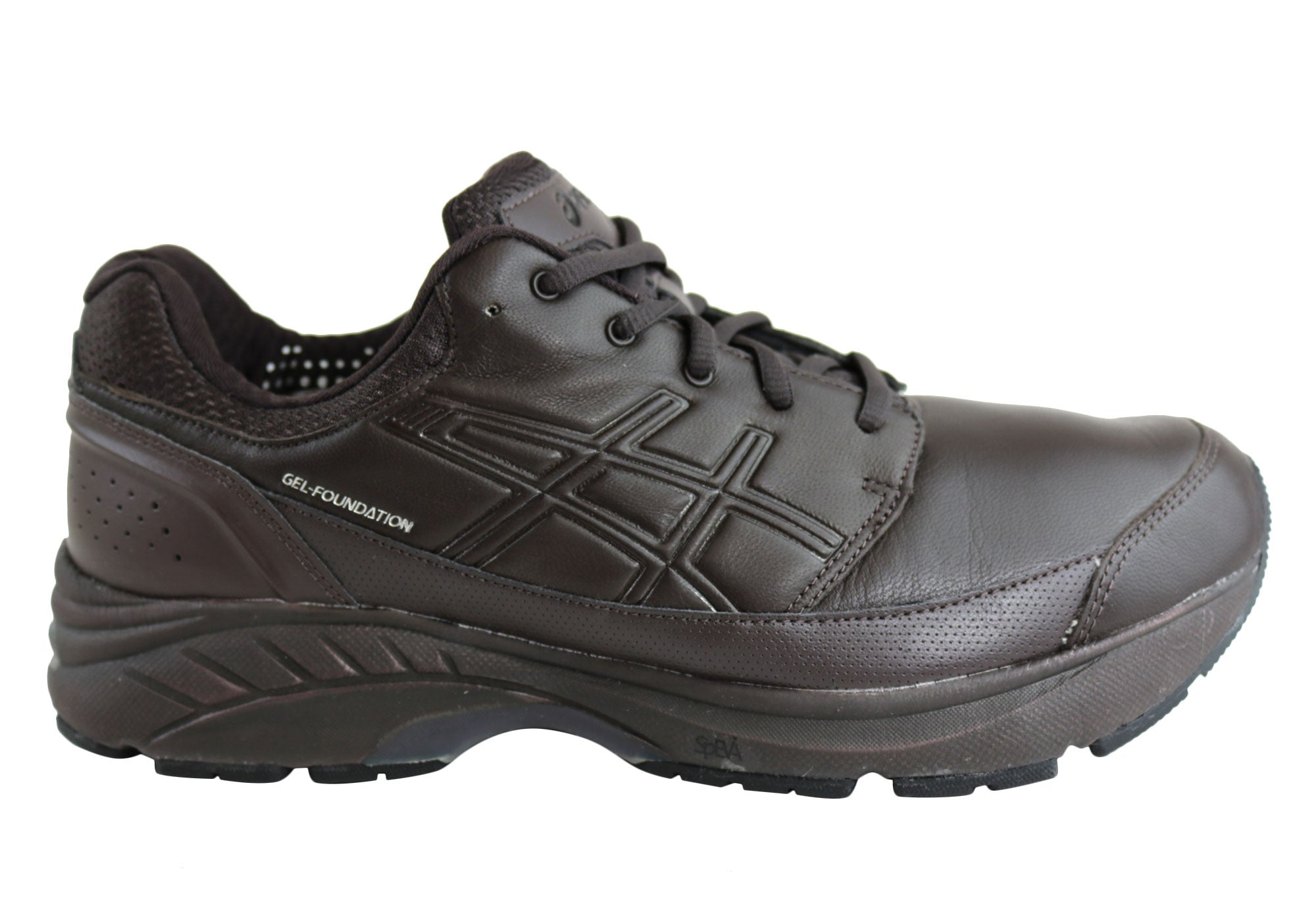 63a2ed0b78 Asics Mens Gel-Foundation Workplace Leather Shoes 4E Extra Wide ...