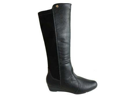 Modare Ultraconforto Womens Knee High Wedge Boots Made In Brazil