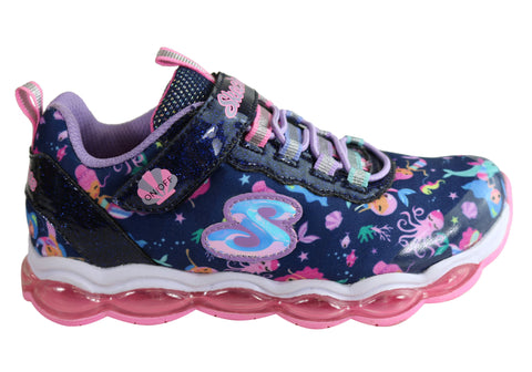 Skechers Girls S Lights Glimmer Lights Sea Glow Athletic Kids Shoes