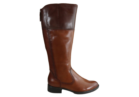 Gino Ventori Naval Womens Comfortable Leather Knee High Boots