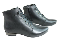 Andacco Dove Womens Leather Comfortable Ankle Boots Made In Brazil