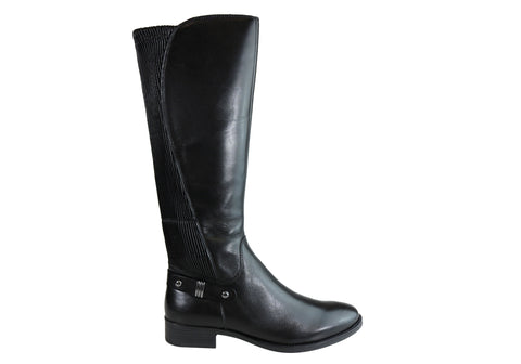 Gino Ventori Opinion Womens Leather Knee High Boots With Elastic