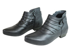 Andacco Dion Womens Leather Comfortable Ankle Boots Made In Brazil