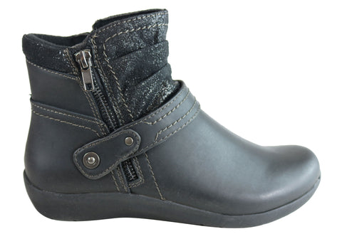 Planet Shoes Courtney Womens Comfortable Ankle Boots With Arch Support
