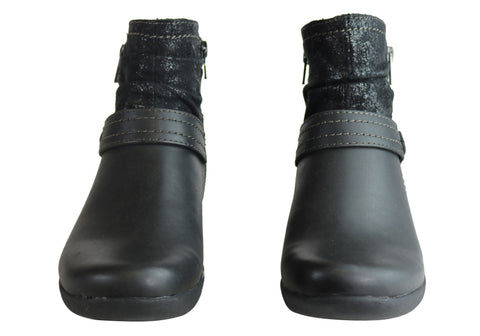 NEW PLANET SHOES COURTNEY WOMENS COMFORTABLE ANKLE BOOTS WITH ARCH SUPPORT