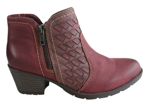 Planet Shoes Harper Womens Comfy Leather Ankle Boots With Arch Support