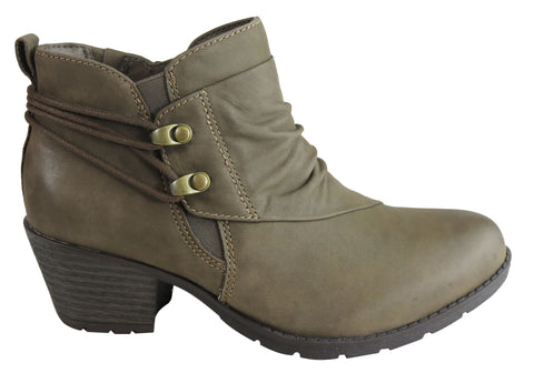 Planet Shoes Hilary Womens Comfy Leather Ankle Boots With Arch Support