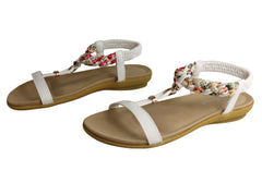 Bellissimo Natalie Womens Comfortable Cushioned Flat Fashion Sandals