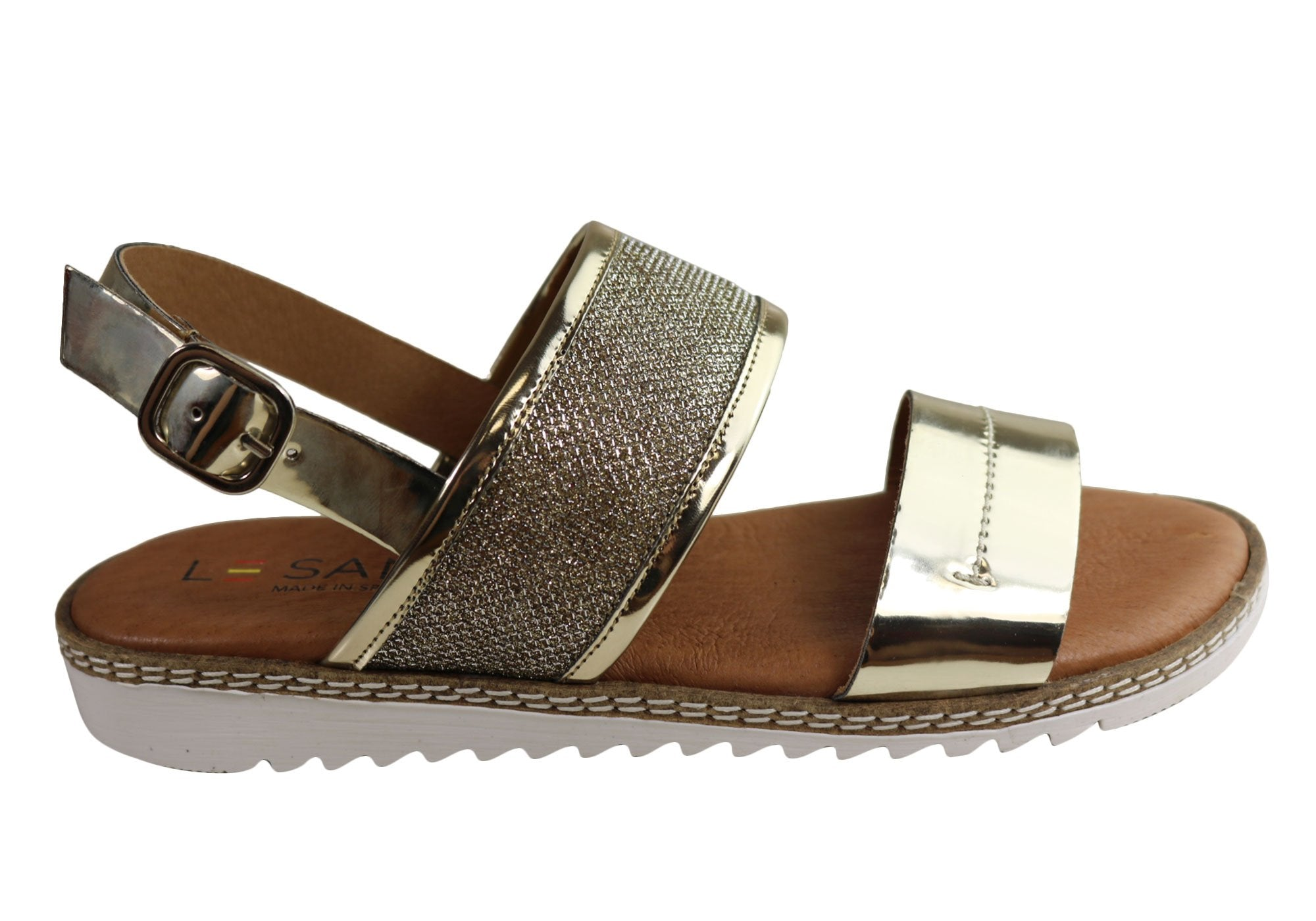 Details about Brand New Le Sansa By Cc Resorts Pamella Womens Comfy Flat Sandals Made In Spain