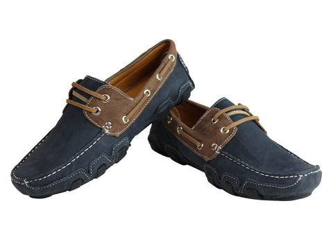 6809f421cbc Andacco Harvey Mens Leather Comfortable Boat Shoes Made In Brazil ...