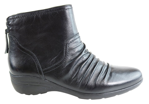 Gino Ventori Dafne Womens Leather Comfort Ankle Boots