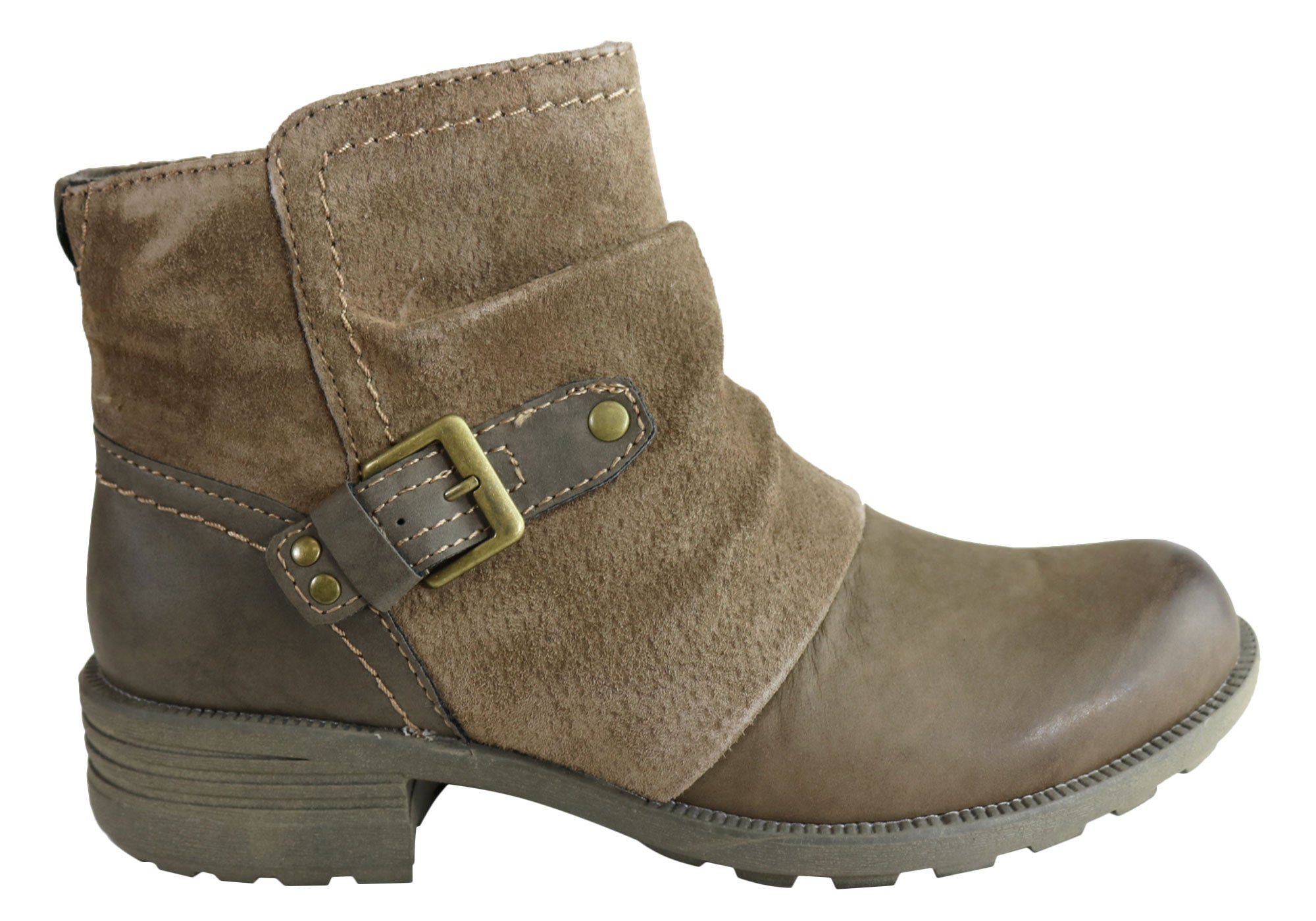 77af516ccf34 Home Planet Shoes Peyton Womens Comfy Leather Ankle Boots With Arch Support.  Stone ...