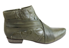 Andacco Dicey Womens Leather Comfortable Ankle Boots Made In Brazil