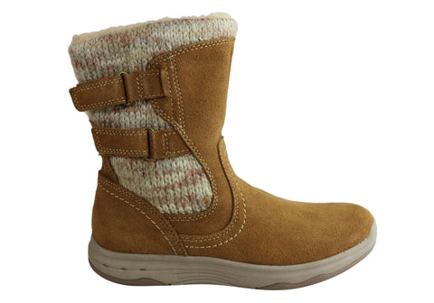 Planet Shoes Katie Womens Comfortable Mid Calf Boots With Arch Support