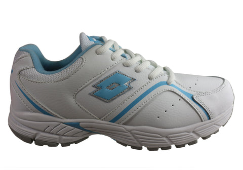 Lotto Multi Trainer Womens Comfortable Leather Lace Up Athletic Shoes