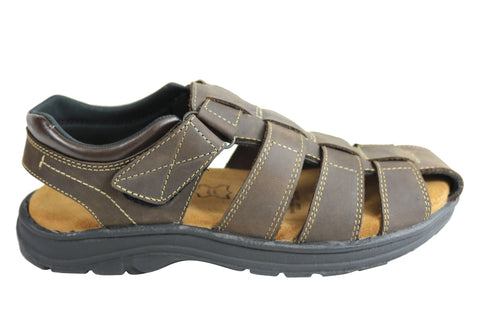 Woodlands Legion Mens Comfortable Cushioned Closed Toe Leather Sandals