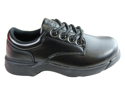 Lotto Study Youth Kids Lace Up Leather School Shoes
